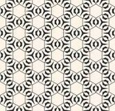 Subtiele vector geometrische textuur met dunne lijnen, hexagonaal net Royalty-vrije Stock Foto's