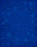 Subtile Sterne auf Blau Stockfoto