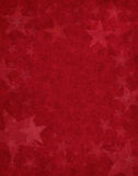 Subtile Sterne auf Rot Stockfotografie