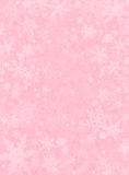 Subtiler Schnee auf Rosa Stockfotos