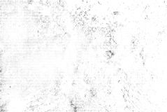 Subtle black halftone vector texture overlay. Monochrome abstract splattered white background. Dotted grain black and white gritty. Monochrome abstract Royalty Free Stock Photography