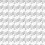 Subtle 3D light gray geometric triangular seamless pattern royalty free illustration