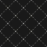 Subtle dark geometric seamless pattern with small diamond shapes Stock Photo
