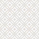 Subtle diamonds seamless pattern. Vector white and beige background. Subtle abstract floral seamless pattern. Vector white and beige background. Simple vector illustration