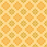 Subtle ethnic pattern on yellow background. Seamless subtle ethnic pattern on light yellow background vector illustration