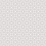 Subtle funky geometric seamless pattern with circular mesh. Subtle funky geometric seamless pattern with simple figures, circular mesh, rounded shapes. White Stock Photos