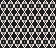 Subtle geometric seamless pattern with hexagonal grid. Stock Image