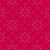 Subtle minimalist dotted seamless pattern. Festive decorative design element. Subtle red and white minimalist dotted seamless pattern, modern vector texture in Royalty Free Stock Images