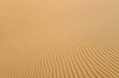Perfect shapes on sandy desert Stock Image