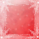 Subtle snowflakes framing copy space with stars on Royalty Free Stock Image