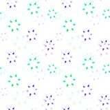 Subtle stars fading seamless pattern. Simple geometry series Stock Photos