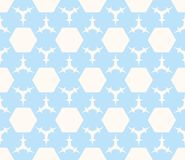 Subtle vector geometric pattern in soft pastel colors, light blue and white beige. Vector geometric pattern in soft pastel colors, light blue and white beige Royalty Free Stock Photography