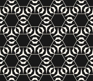 Subtle vector geometric pattern with thin lines, hexagonal grid Royalty Free Stock Images