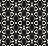 Subtle vector geometric texture with thin lines, hexagonal grid. Geometric seamless pattern with triangular shapes, thin lines, hexagonal grid. Subtle vector Royalty Free Stock Images