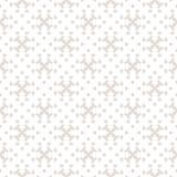 Subtle vector ornamental seamless pattern with crosses, rhombuses, grid, lattice royalty free illustration