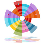 Subtopics Wheel Chart Royalty Free Stock Photography