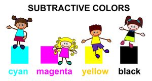 Subtractive colors Stock Photo