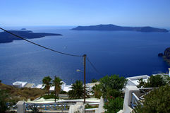 Subtropical view from Santorini Royalty Free Stock Image