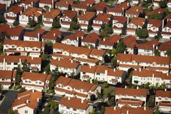 Suburb aerial. Royalty Free Stock Photography