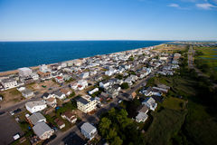 Suburb aerial view Royalty Free Stock Image