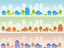 Suburb Banner stock illustration