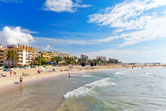 Suburb of Barcelona. Royalty Free Stock Photo