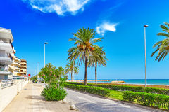 Suburb of Barcelona. Royalty Free Stock Images