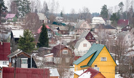Suburb dacha settlement in Russia Stock Photo