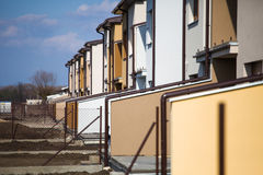 Suburb houses in a row Stock Photo