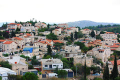 Suburb of Jerusalem. In the rain Stock Photography