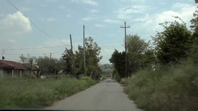 The suburb of Neapli. A Italy June 2015. car trip accelerated video stock footage