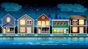 Suburb at night Stock Image