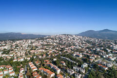 Suburb of Panorama and Chortiatis mountain, Thessaloniki, Greece royalty free stock photos