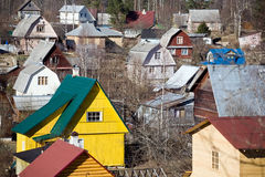 Suburb settlement in Russia Stock Photography