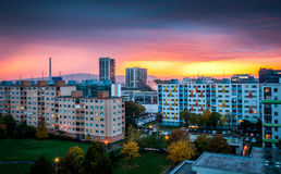 Suburb at Sunset Stock Photography