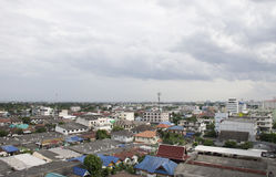 Suburb in Thailand from top view. Stock Photos