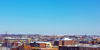 Suburb of US capital city in winter. Royalty Free Stock Image