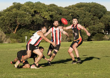 Suburban AFL competition Royalty Free Stock Photos