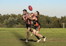 Suburban AFL competition Royalty Free Stock Photography
