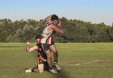 Suburban AFL competition Stock Photo
