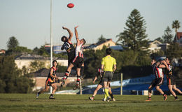 Suburban AFL competition Stock Photos