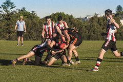 Suburban AFL competition Stock Photography