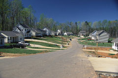 Suburban American neighborhood Stock Images
