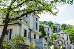 Suburban area apartment building in Stock Photo