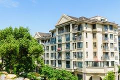 Suburban area apartment building in Stock Images