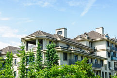 Suburban area apartment building in Royalty Free Stock Photography