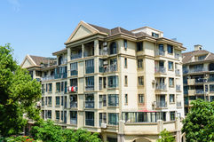 Suburban area apartment building in Royalty Free Stock Images