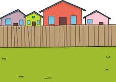 Suburban Backyard Background Royalty Free Stock Images