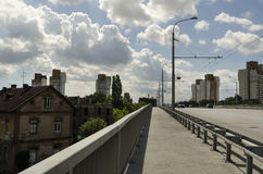 Suburban boulevard in city Royalty Free Stock Photo