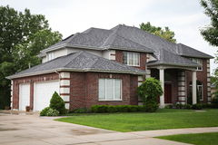 Suburban Brick House Stock Image
